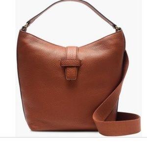 J.crew Brown Signet Italian Leather Hobo bag